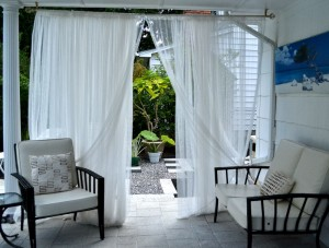 curtains on patio in Amherst NY