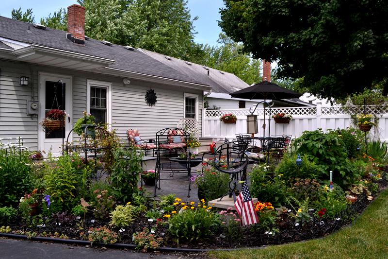 garden around patio in Williamsville NY