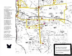 map for West Seneca Garden Walk 2012