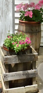 old barrel and crate in Hamburg NY