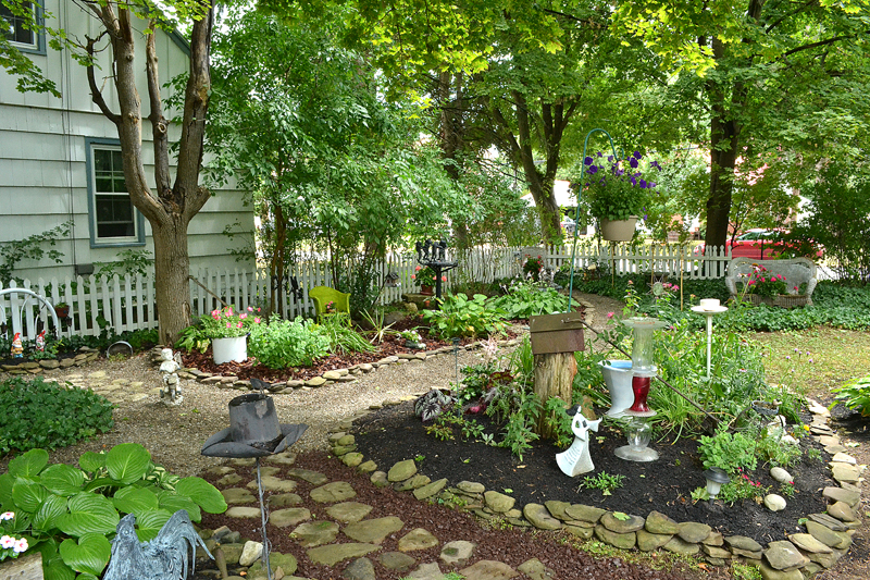 overview of backyard in Hamburg NY