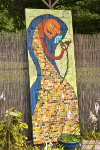 tall painting in Lancaster NY garden