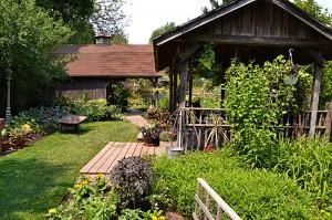 view of buildings in garden in Tonawanda NY