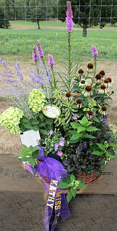 Mischler's container garden won second place