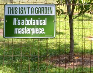 garden signs in Lockport NY