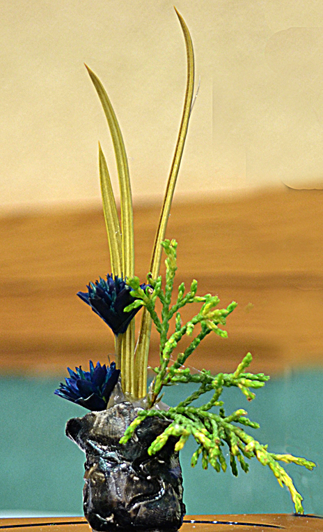 miniature floral design in clay from national garden clubs convention 2012