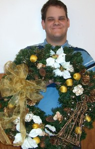 Opportunities Unlimited holiday wreath
