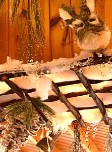 trellis as Christmas decoration in Hamburg NY