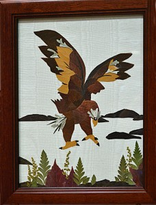 eagle of dried flowers by Julius of Lancaster NY