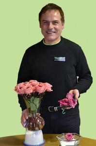 David Clark drying flowers