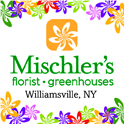 logo for Mischler's Florist and Greenhouses in Williamsville NY