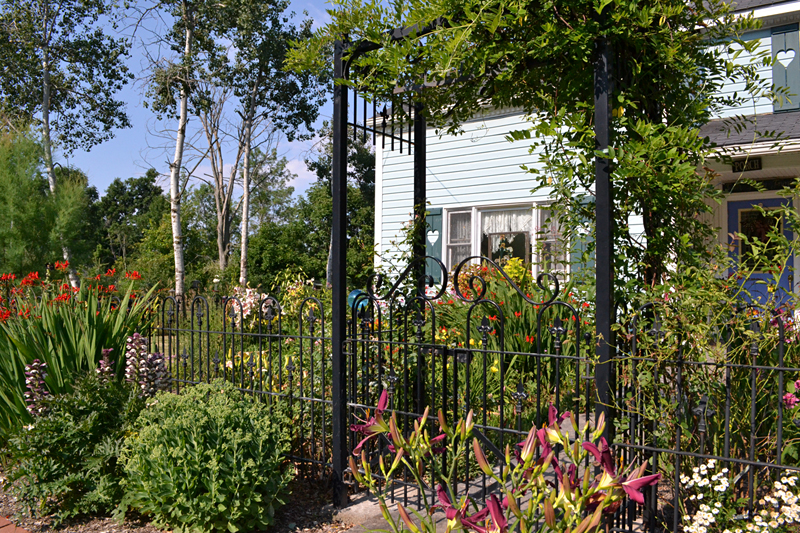gate on wrought iron fence in Clarence NY