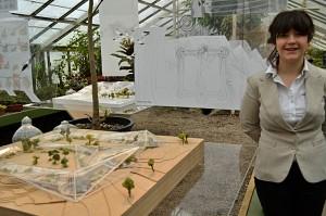 Christa Trautman model of Botanical Gardens