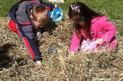 Easter egg hunters at Buffalo Botanical Gardens