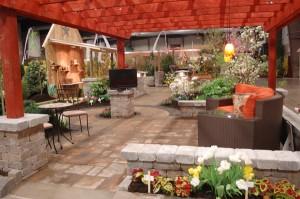 outdoor garden room at Plantasia