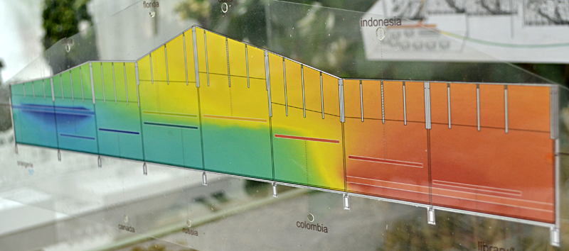 temperature model for architectural concept in Buffalo NY
