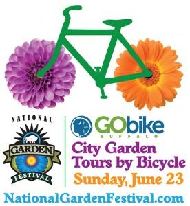GOBike city garden tours logo in Buffalo NY