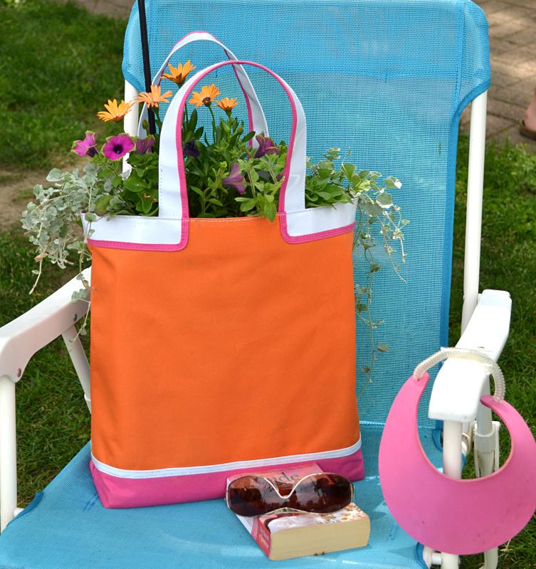 beach bag containter garden in Lewiston NY