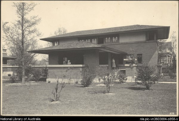 landscape at Barton House by Walter Burley Griffin from National Library of Australia