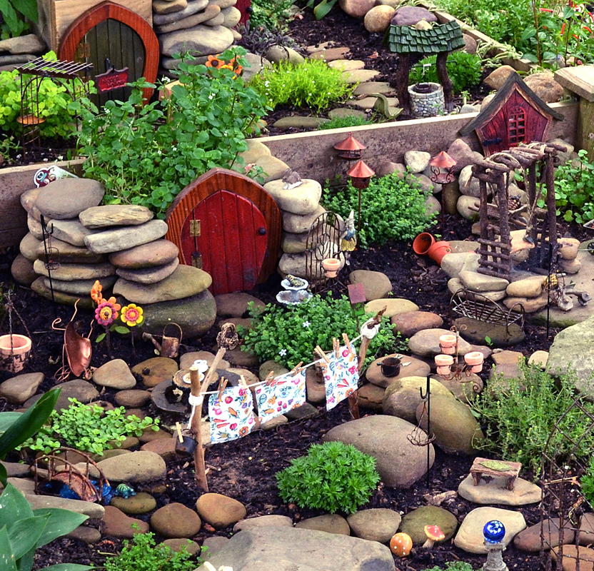 Fairy garden or fairy village to be seen on South