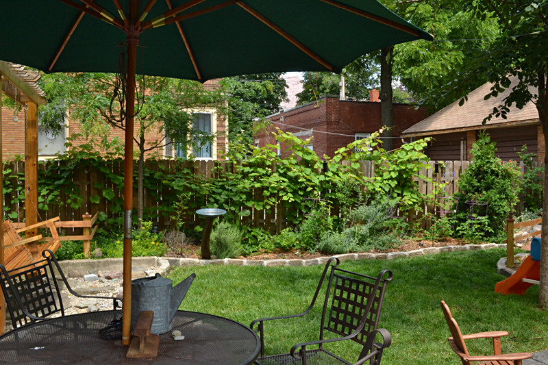 pretty backyard is pesticide free in Buffalo NY