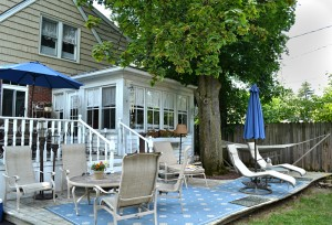 two tiered deck in Snyder NY
