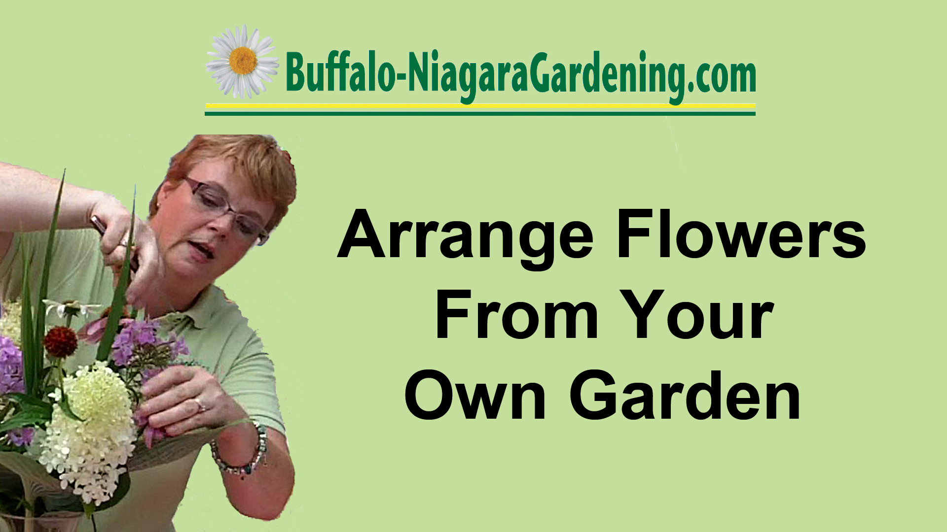 image for video on how to arrange flowers from your garden in Buffalo NY