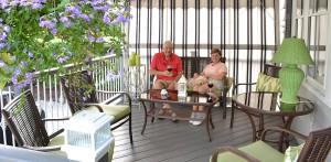 Mary Jane and Denis Uminski on back deck in Tonawanda NY