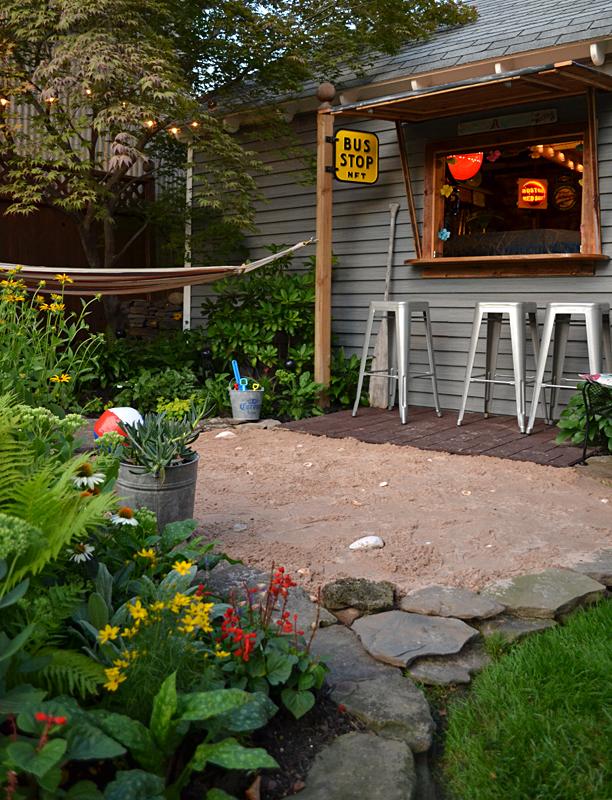 'Beachside bar' is relaxing spot in Riverside backyard