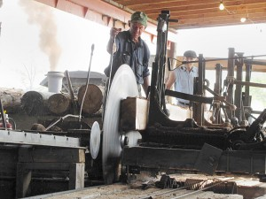saw mill powered by steam from WNY Steam and Gas Power Association
