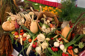 Vegetable Display at Genesee Country Village Museum by Brian Nagel