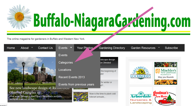hovering over events on BuffaloNiagaraGardening