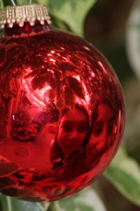 portrait in Christmas ornament by Chris Reisch