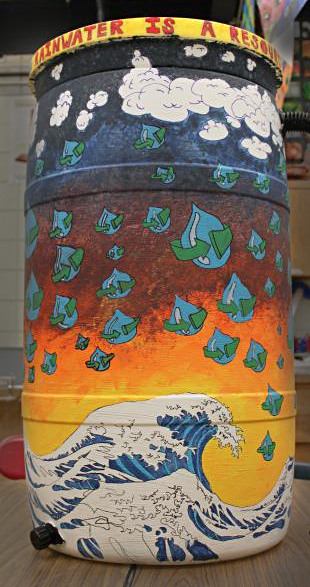 rain barrel student contest Western New York