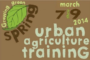 spring urban agriculture workshop in Buffalo NY at MAP