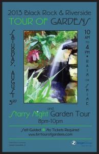 Black Rock Riverside Tour Gardens poster 2013