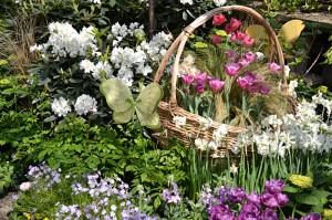 Easter basket at Buffalo Botanical Gardens spring 2014