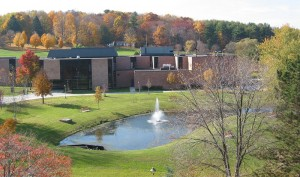 autumn trees at Jamestown Community College