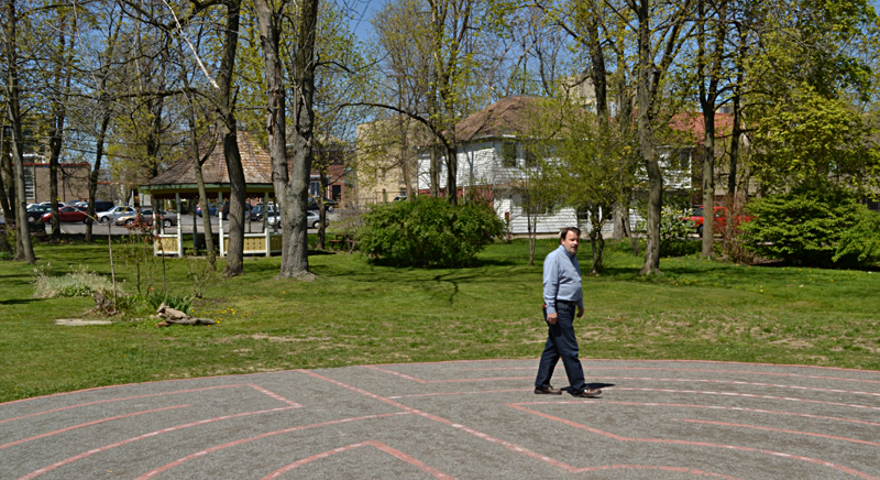 garden and labyrinth Unity Church in Buffalo NY