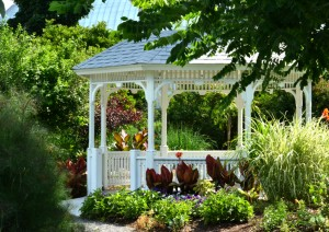 gazebo at Buffalo Botanical Gardens