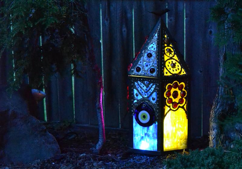 Lighting adds ambiance to Moroccan-themed garden in Tonawanda