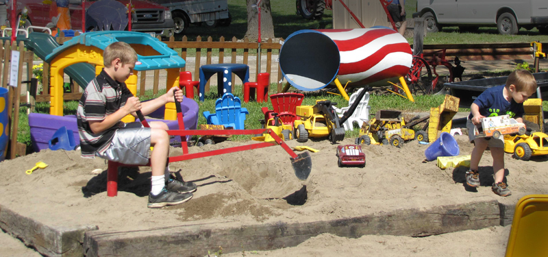 children's play area at WNY Gas and Steam Engine rally by Bob Melville