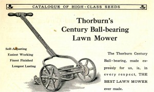 Ad for reel mower circa 1900 from Laura Burchfield