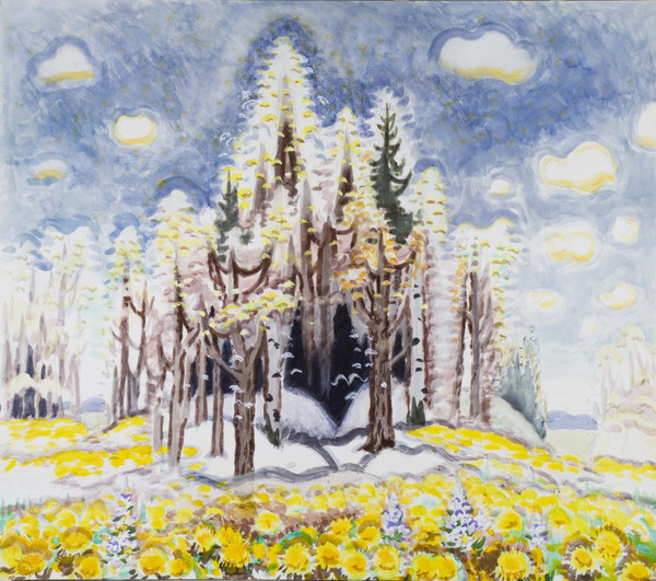 one of Charles Burchfield's botanical images