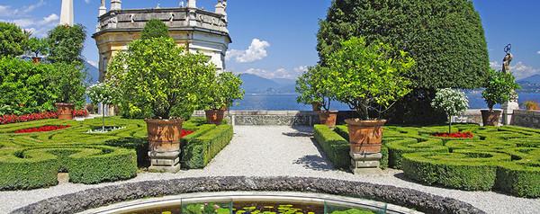 Garden at an Italian villa