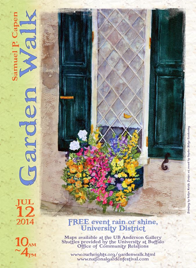 $100 prize offered for artwork for Capen Garden Walk 2015 posters; deadline is April 3