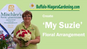 title image for video with Mischler's on how to make floral arrangement called My Suzie