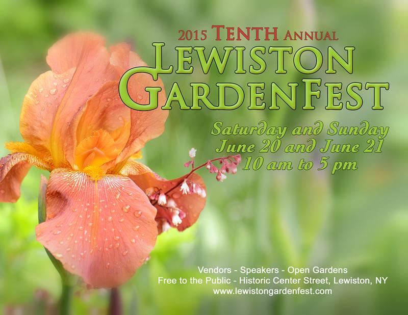 Lewiston GardenFest poster 2015