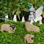 baa baa black sheep miniature garden at Mischler's Williamsville