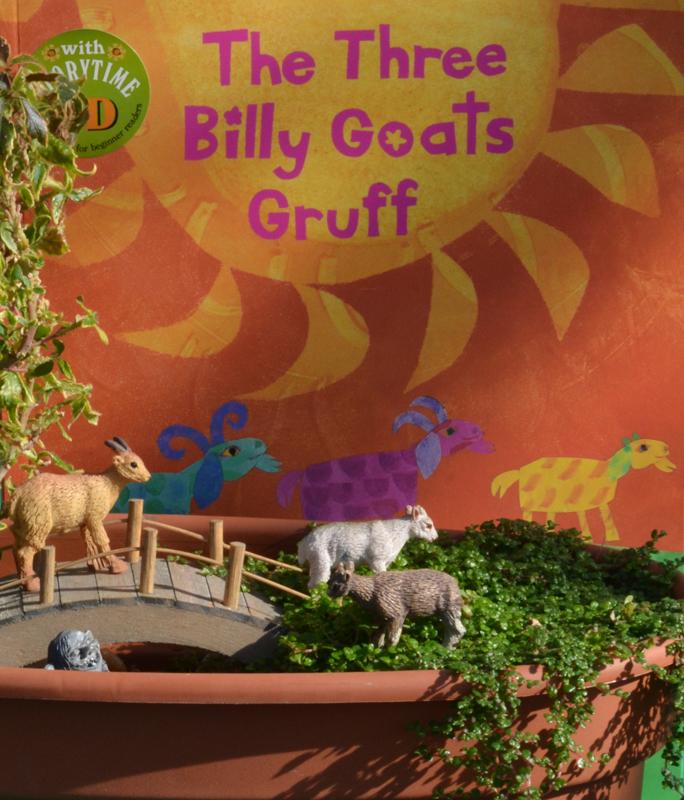 three billy goats fairy garden by Mischler's in Williamsville NY